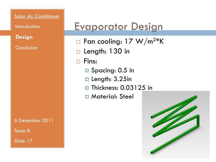 Evaporator Design