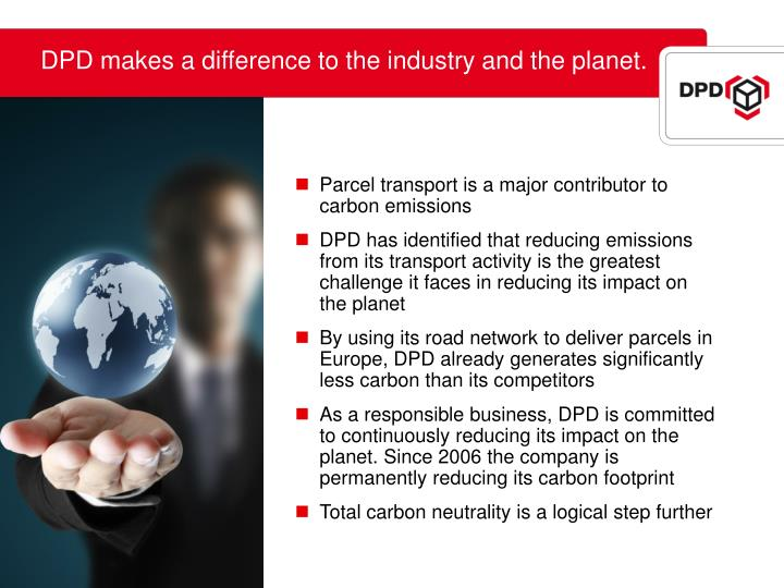 DPD makes a difference to the industry and the planet.