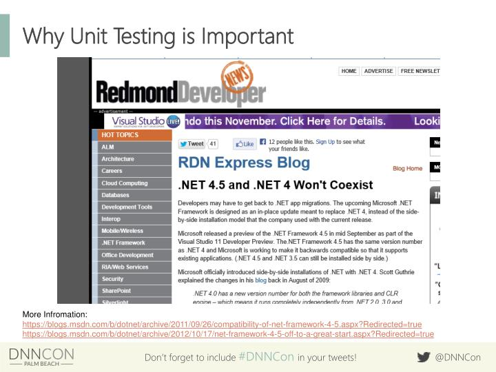 Why Unit Testing is