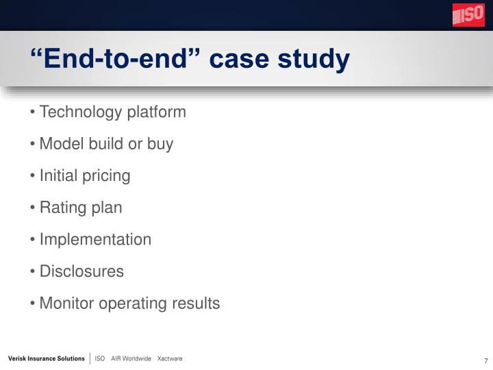 """End-to-end"" case study"