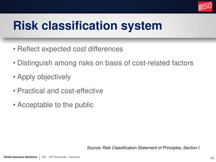 Risk classification system