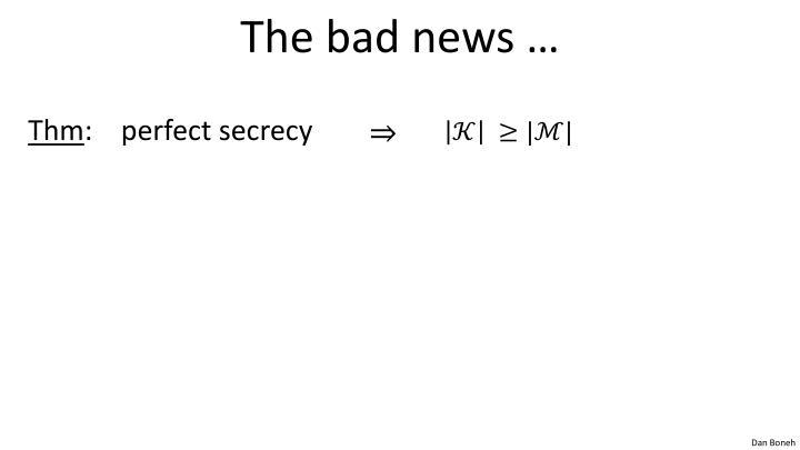 The bad news …