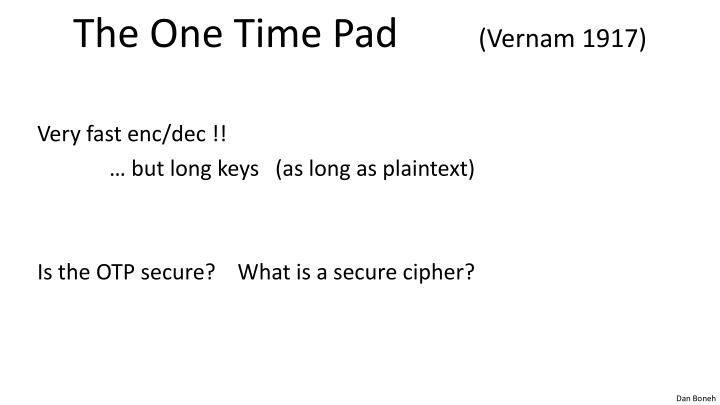 The One Time Pad