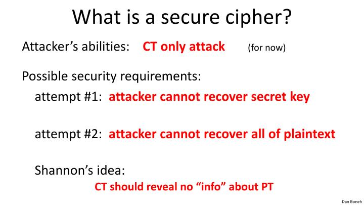 What is a secure cipher?