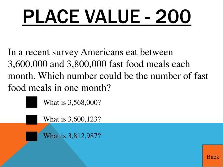 Place Value - 200
