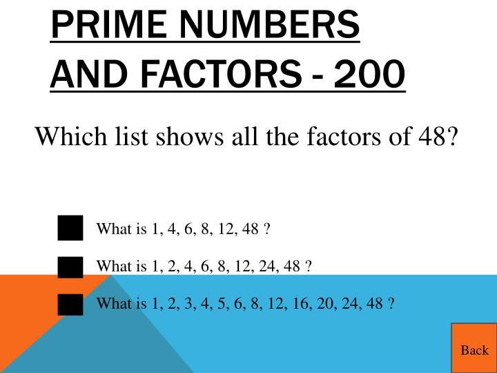 Prime Numbers and Factors - 200