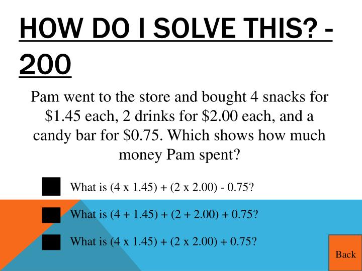 How do I solve this? - 200