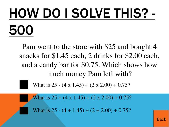 How do I solve this? - 500