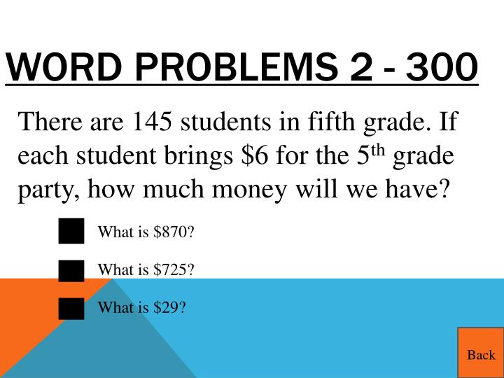 Word Problems 2 - 300