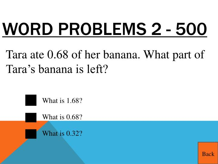Word Problems 2 - 500
