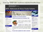 visit our web site csufresno edu teachmathscience