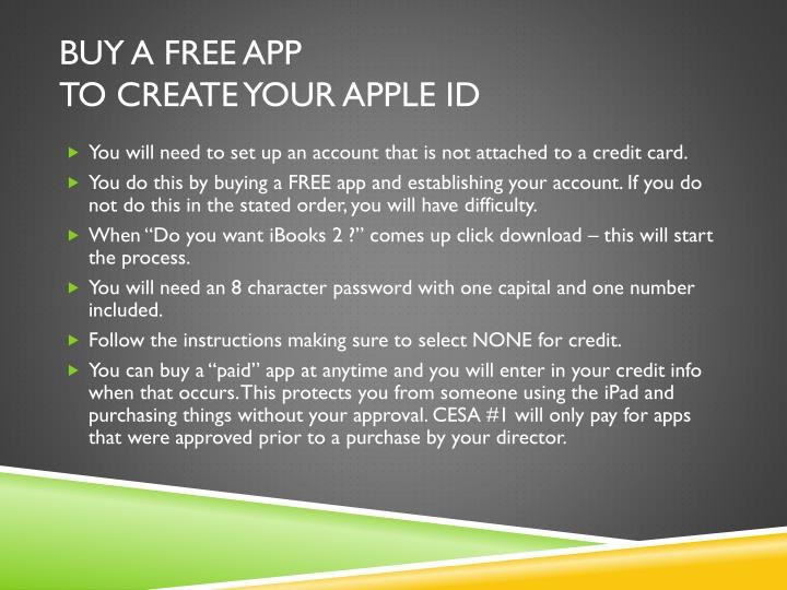 Buy a Free app