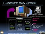 5 components of any computer