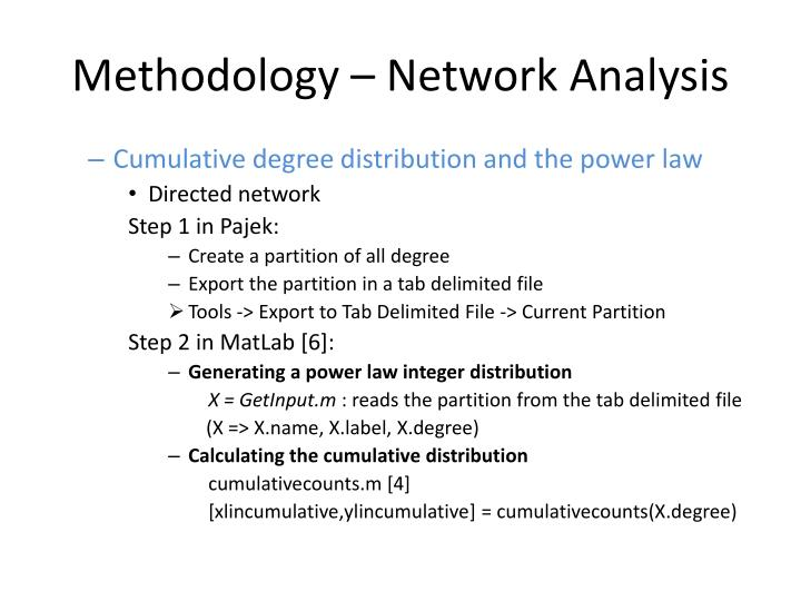 Methodology – Network Analysis