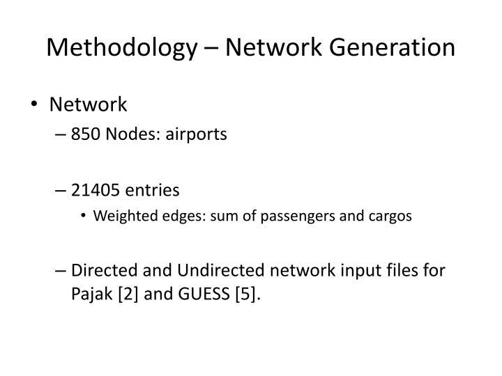 Methodology – Network Generation