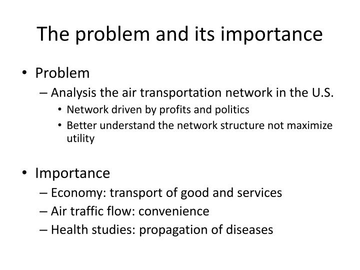 The problem and its importance