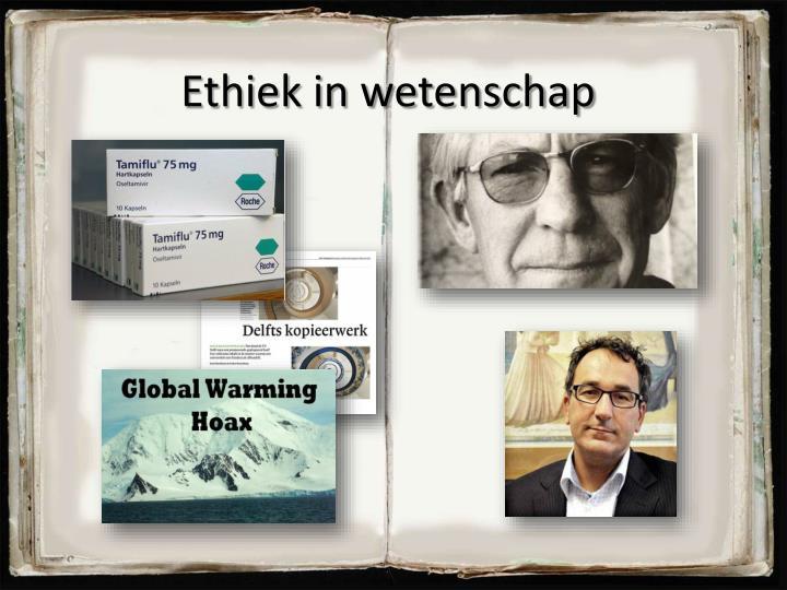 Ethiek in wetenschap