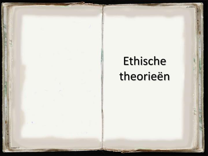 Ethische theorieën