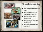 moraal en voeding