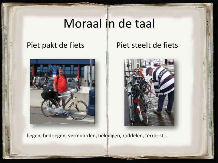 Moraal in de taal