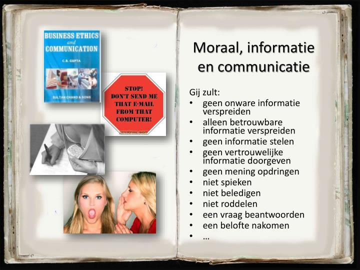 Moraal, informatie