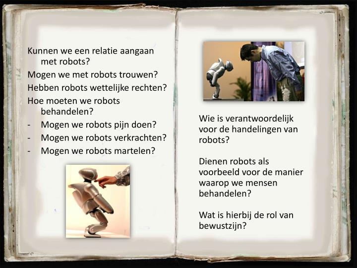 Kunnen we een relatie aangaan met robots?