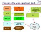 managing the whol e protocol stack