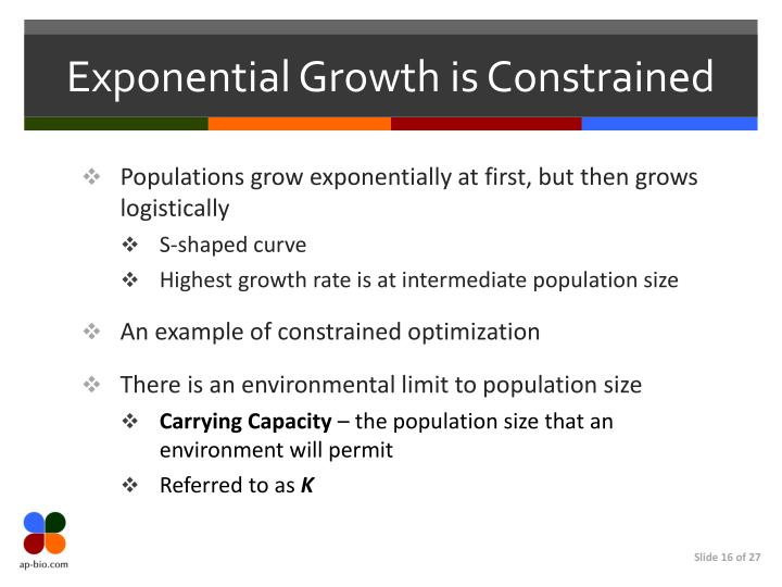 Exponential Growth is Constrained