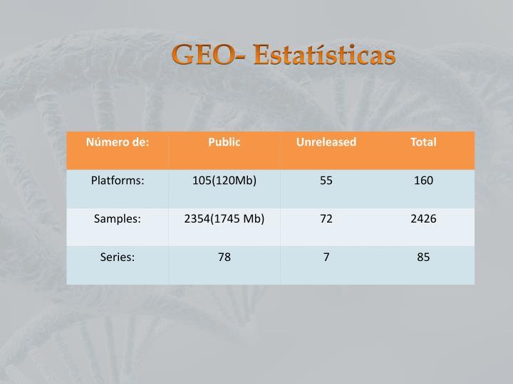 GEO- Estatísticas