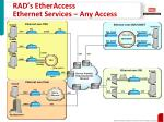 rad s etheraccess ethernet services any access2