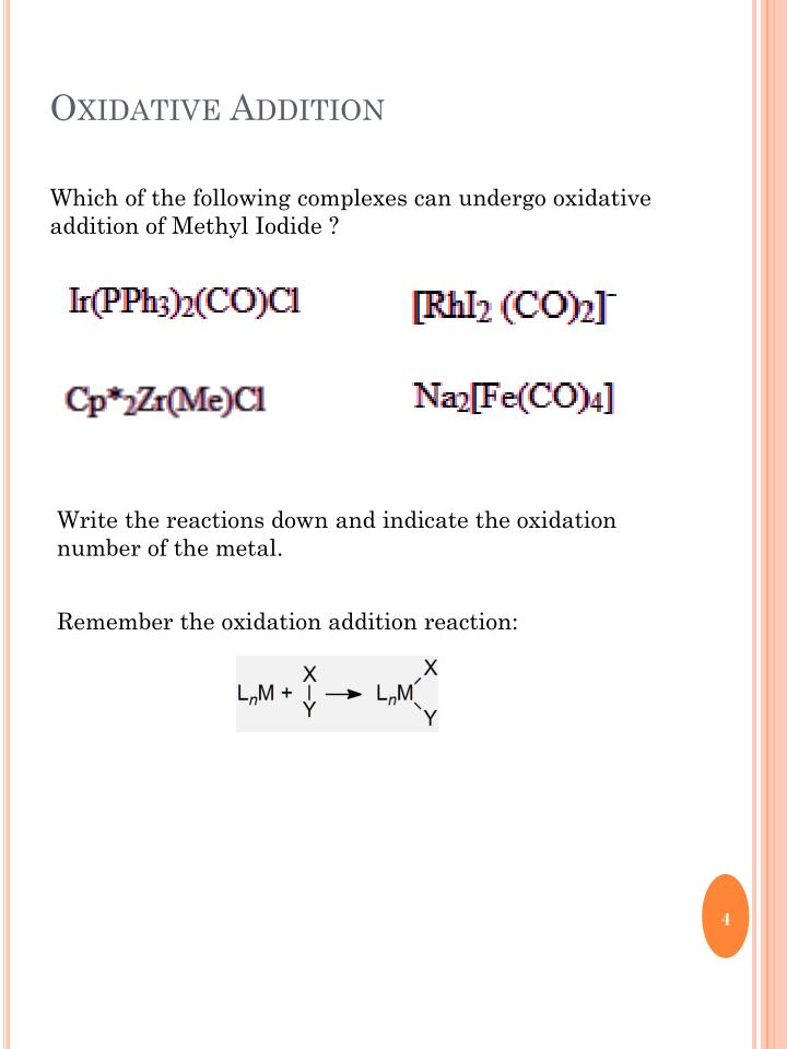 Oxidative Addition