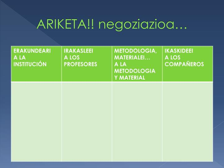 ARIKETA!!