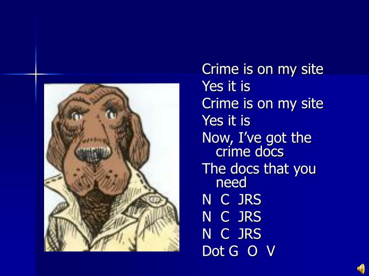 Crime is on my site