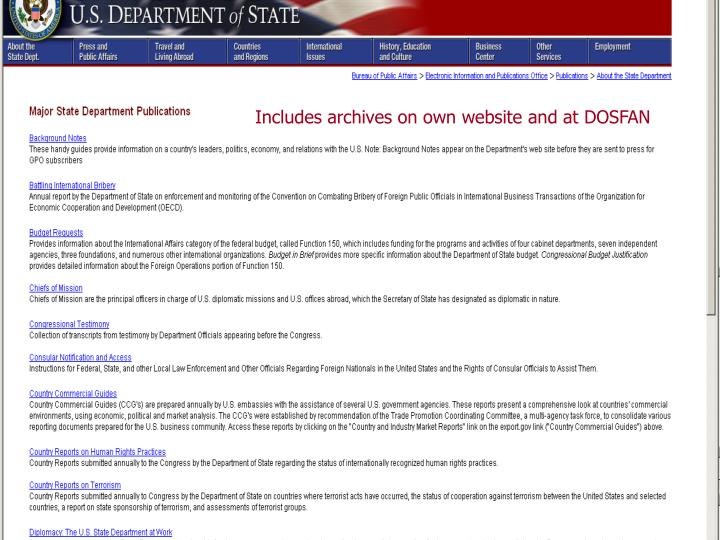 Includes archives on own website and at DOSFAN
