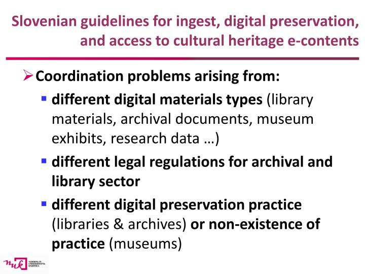 Slovenian guidelines for