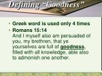 defining goodness1