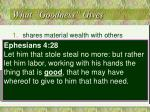 what goodness gives1