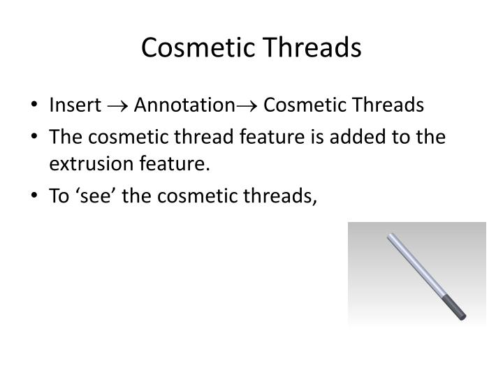 Cosmetic Threads