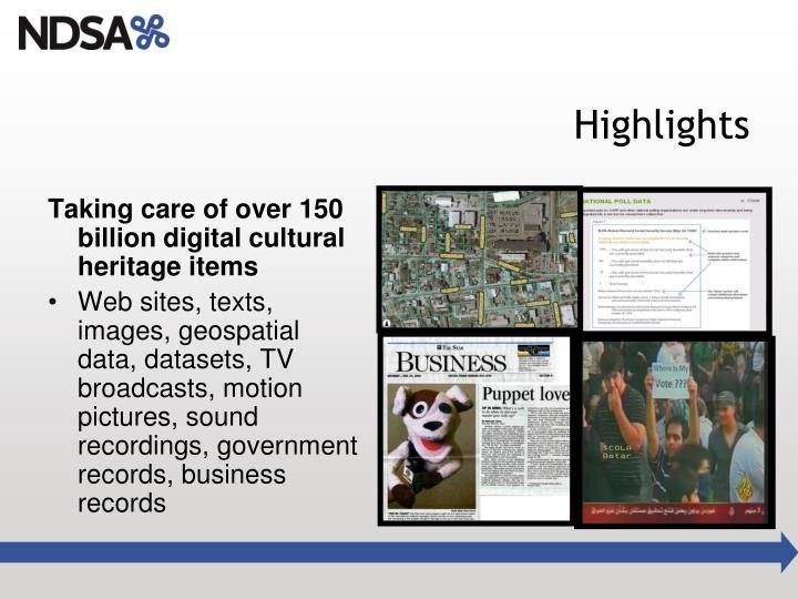 Taking care of over 150 billion digital cultural heritage items