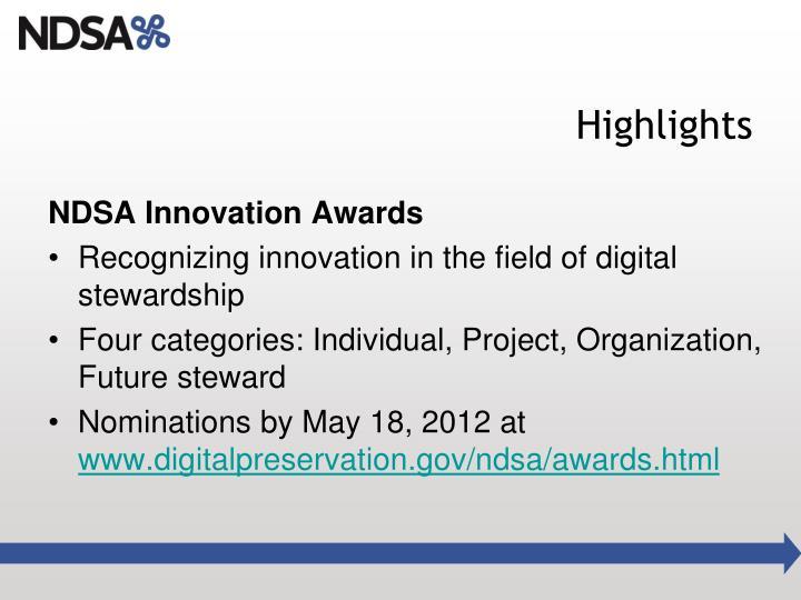 NDSA Innovation Awards