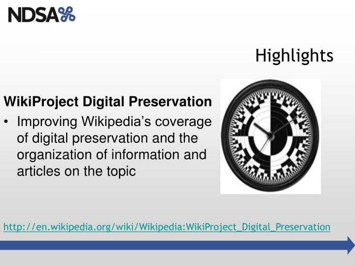WikiProject Digital Preservation
