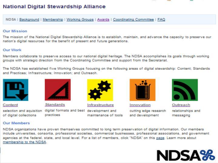 www.digitalpreservation.gov/ndsa