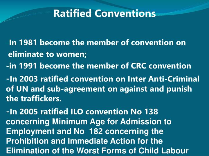 Ratified Conventions