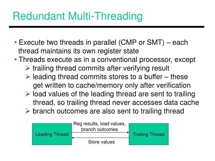 Redundant Multi-Threading
