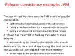 release consistency example jvm