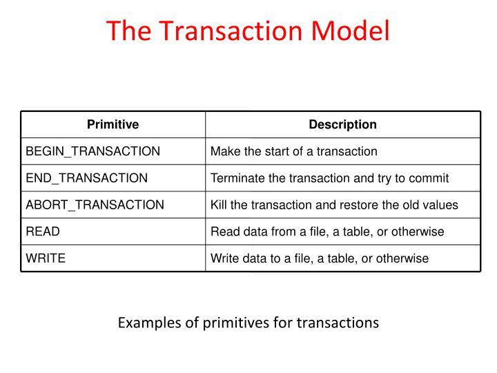 The Transaction Model