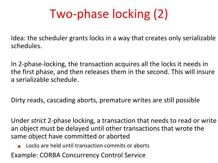 Two-phase locking (2)