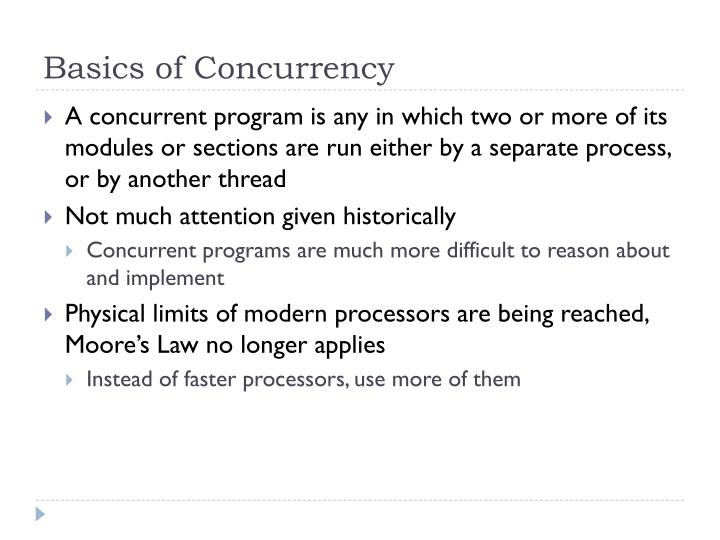 Basics of Concurrency