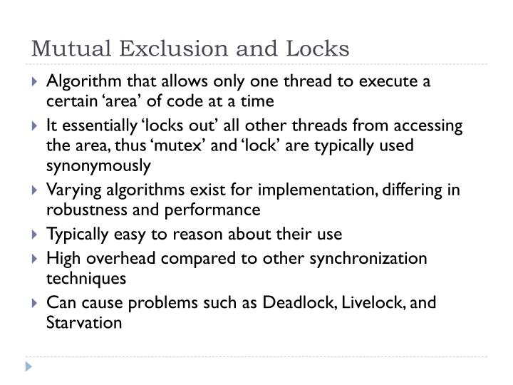 Mutual Exclusion and Locks