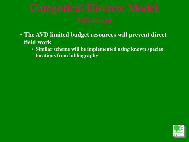 Categorical Discrete Model